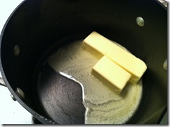 12 Tablespoons of meting butter! Everything's better with butter.