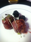 Pork and fennel meatballs with blackberry Sofie jam