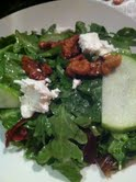 A not-so-simple salad with goat cheese from Baetje Farms.